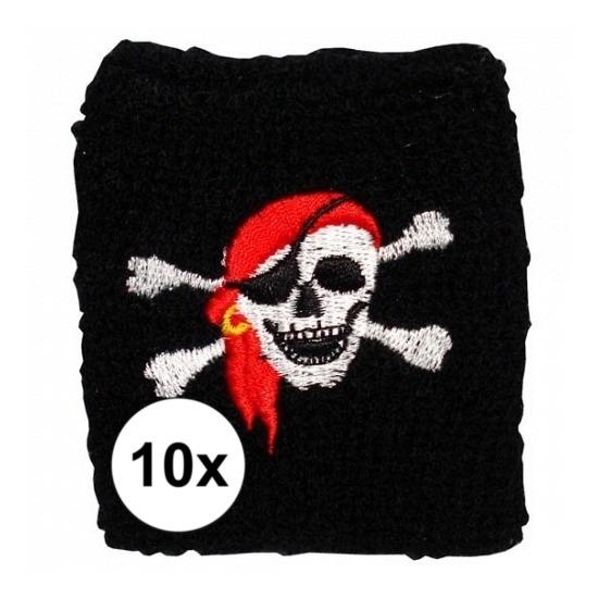 10 stuks Piraten zweetbandje