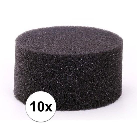 10 stuks zwarte schmink-make up sponsjes rond