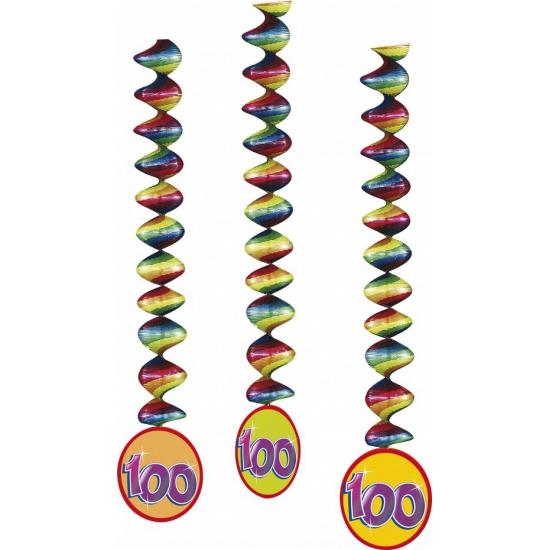 100 jaar decoratie spiralen 3x