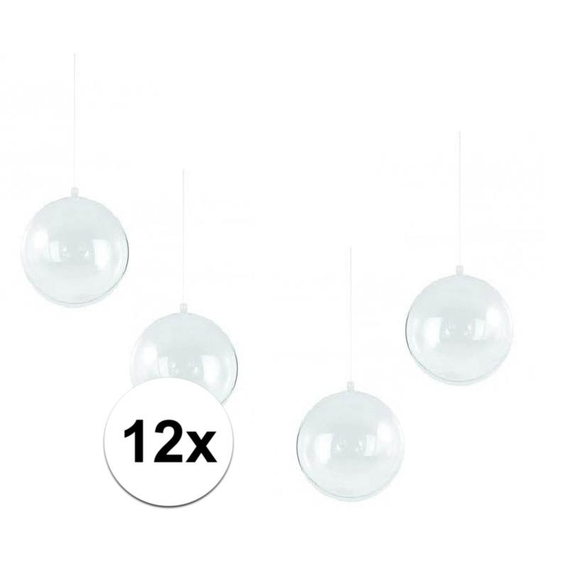 12x Hobby kerstballen 14 cm maken