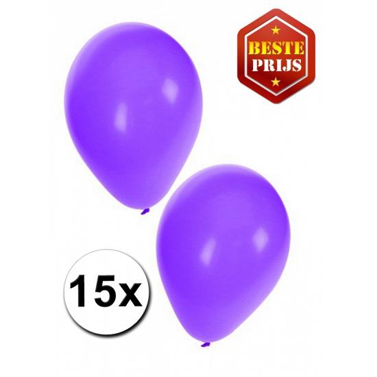 15 Paarse decoratie ballonnen