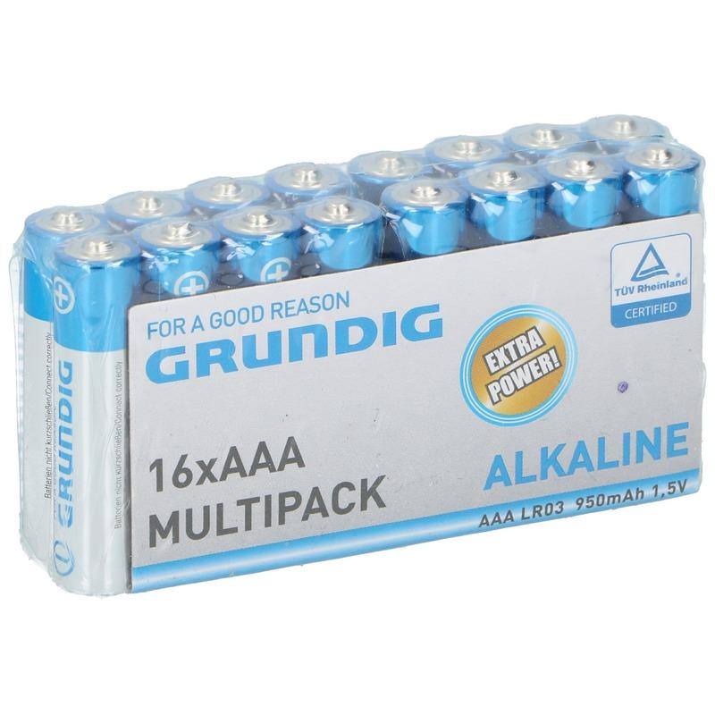 16x Grundig AAA batterijen alkaline