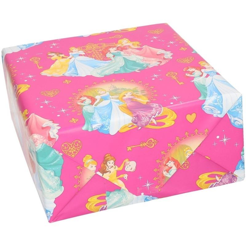 1x Disney Princess kerst cadeaupapier-inpakpapier 70 x 200 cm