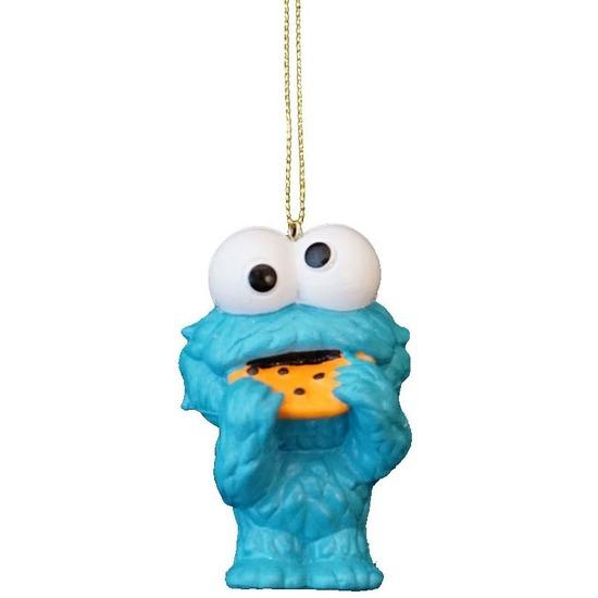 1x Kersthangers figuurtjes Sesamstraat Koekiemonster 8 cm
