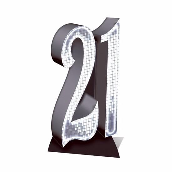 21 jaar versiering bord