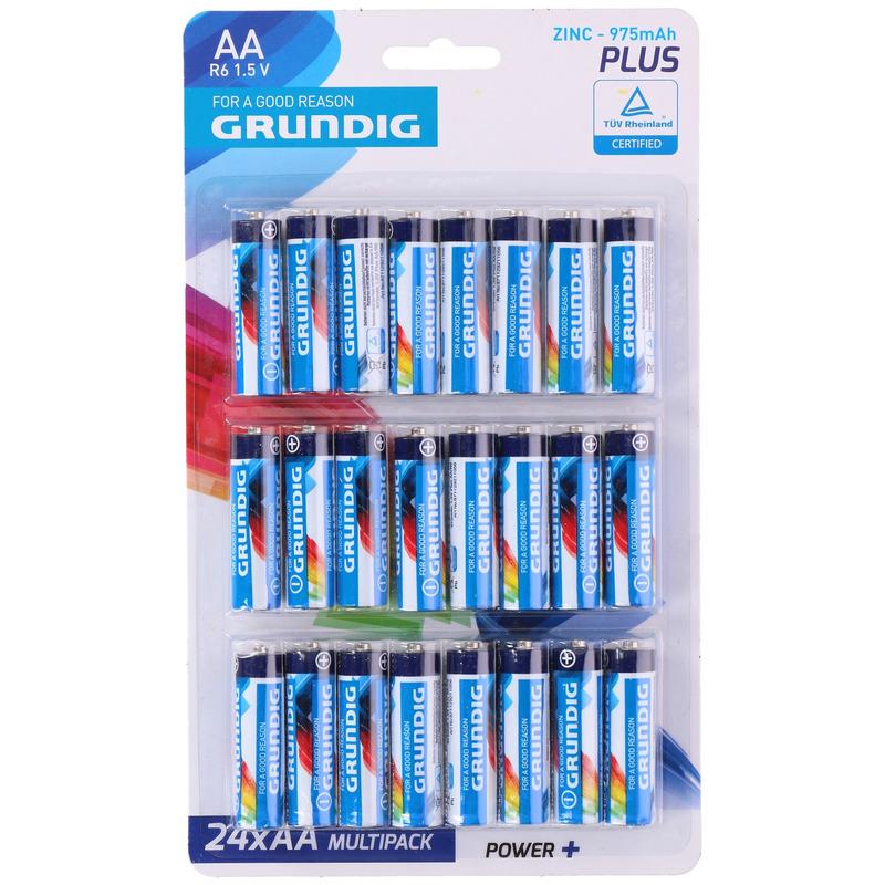 24x Grundig AA batterijen plus
