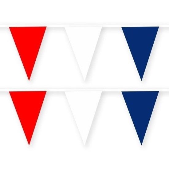 2x Amerika-USA stoffen vlaggenlijnen-slingers 10 meter katoen