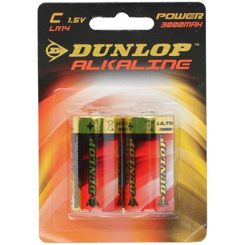 2x Dunlop LR14 C batterijen