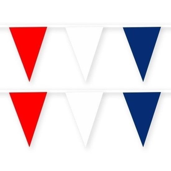 2x Noorwegen stoffen vlaggenlijnen-slingers 10 meter van katoen