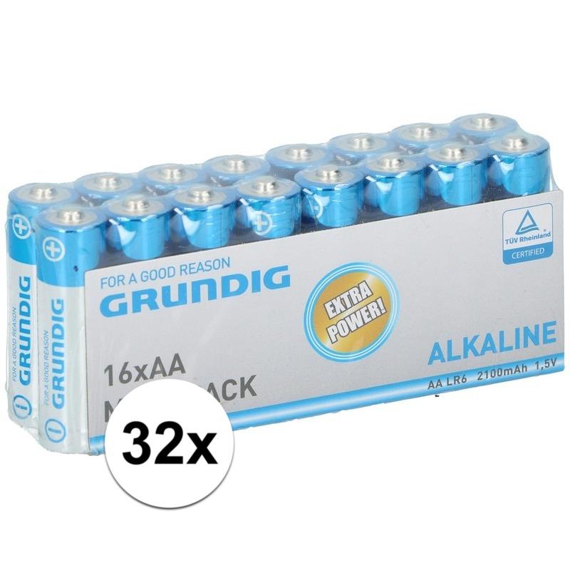 32x Grundig AA batterijen alkaline