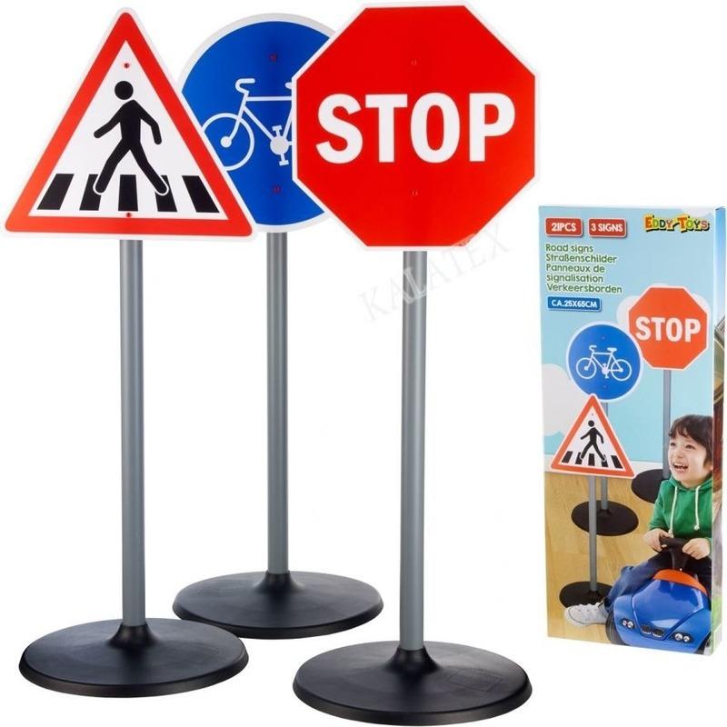 3x Grote speelgoed verkeersborden 65 cm