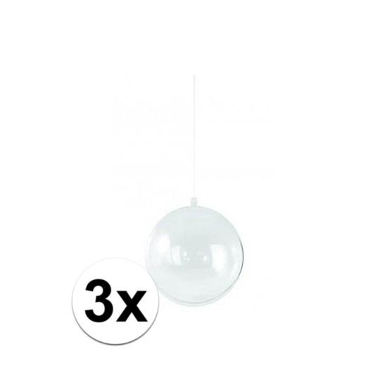 3x Hobby kerstballen 14 cm maken
