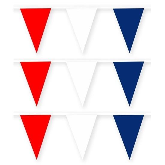 3x Nederland stoffen vlaggenlijnen-slingers 10 meter katoen