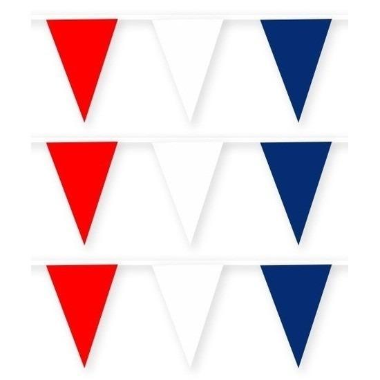 3x Noorwegen stoffen vlaggenlijnen-slingers 10 meter van katoen
