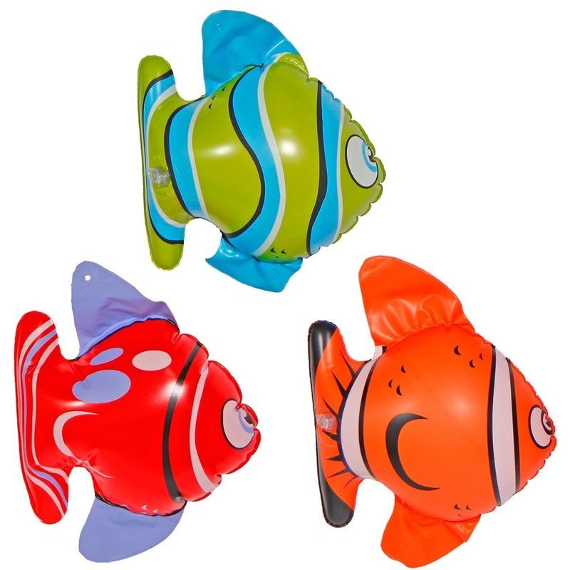 3x Opblaasbare vissen