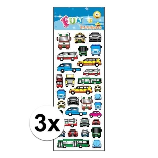 3x Stickervellen bus en auto