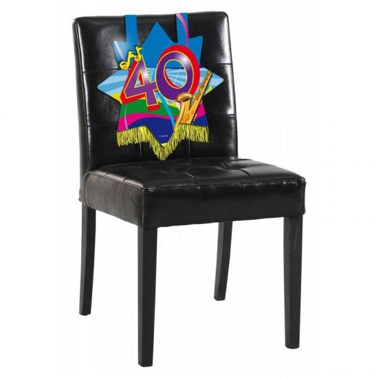 40e verjaardag stoel decoratie