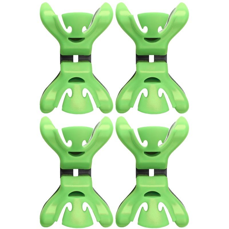 4x Slingers-decoratie ophangen slingerklemmen groen