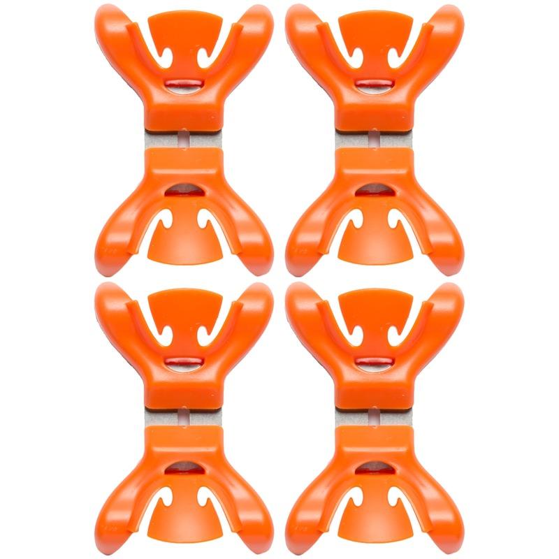 4x Slingers-decoratie ophangen slingerklemmen oranje