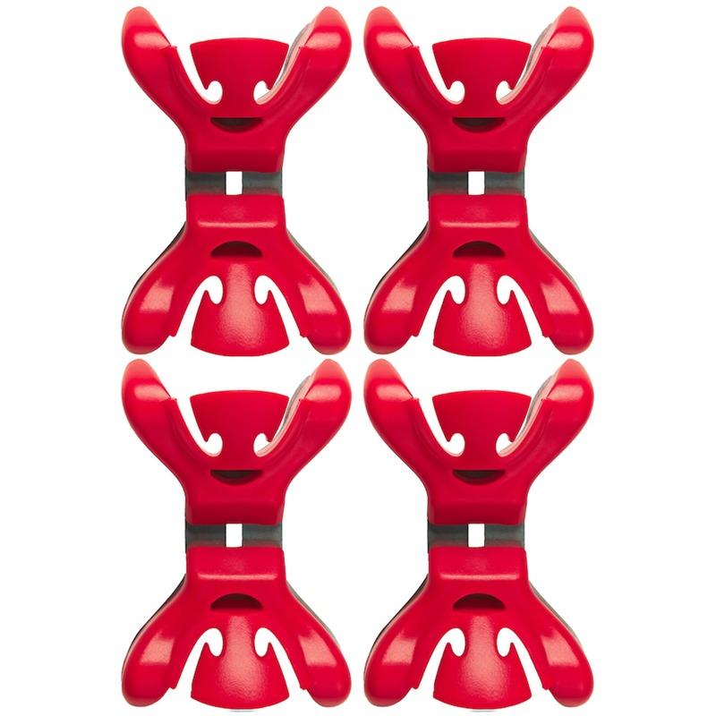 4x Slingers-decoratie ophangen slingerklemmen rood