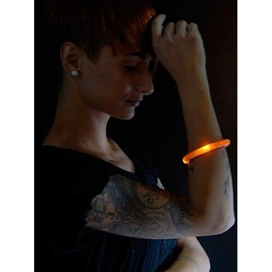 5x Oranje LED licht wikkel armband voor volwassenen