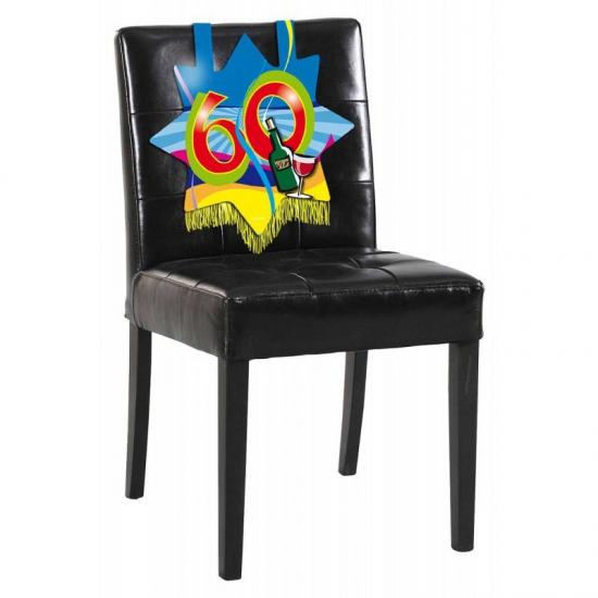60e verjaardag stoel decoratie