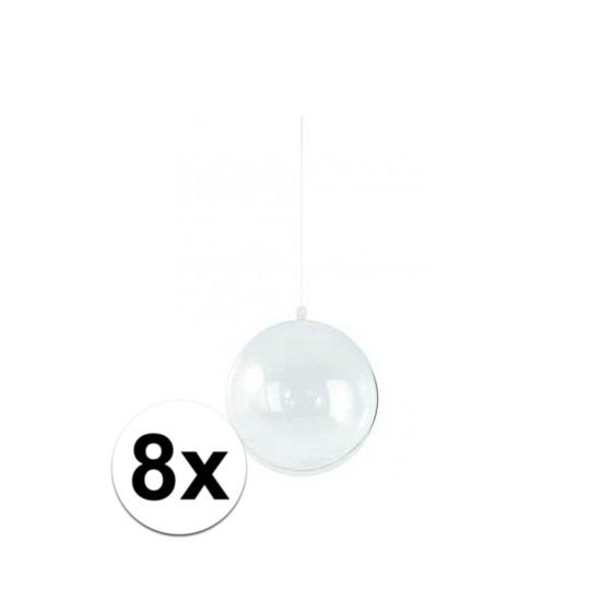 8x Hobby kerstballen 14 cm maken