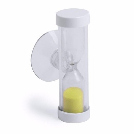 Badkamer-tandenpoets zandloper 2 minuten geel