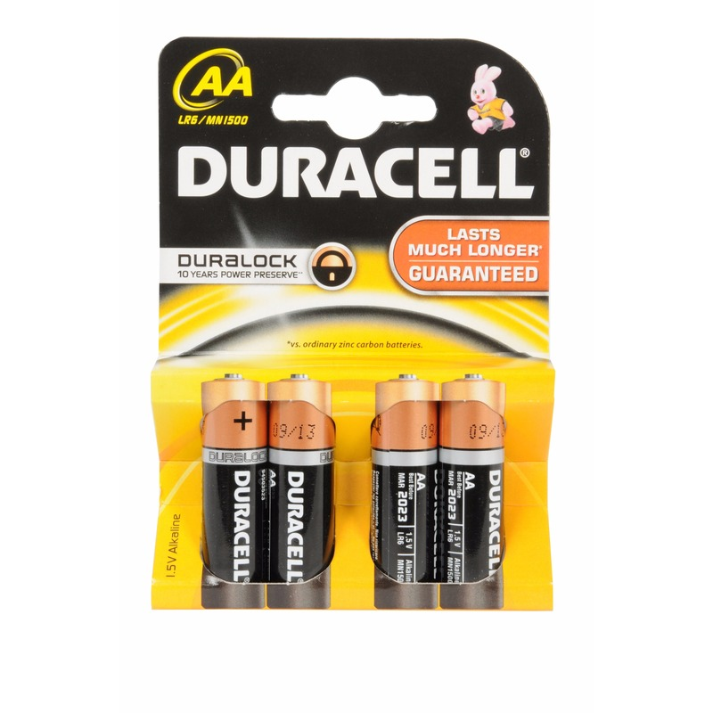 Batterijen R6 AA Duracell 4 stuks