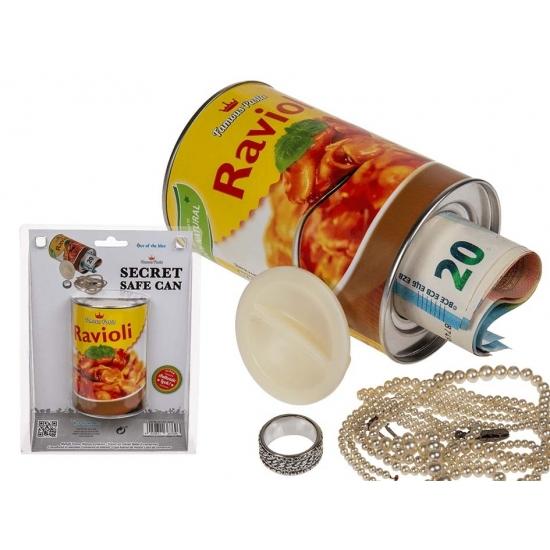 Blik ravioli pasta met opbergruimte