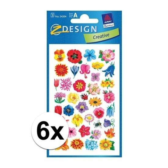 Bloemen stickers 6 vellen