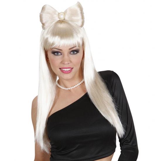 Blonde Lady Gaga look a like pruik