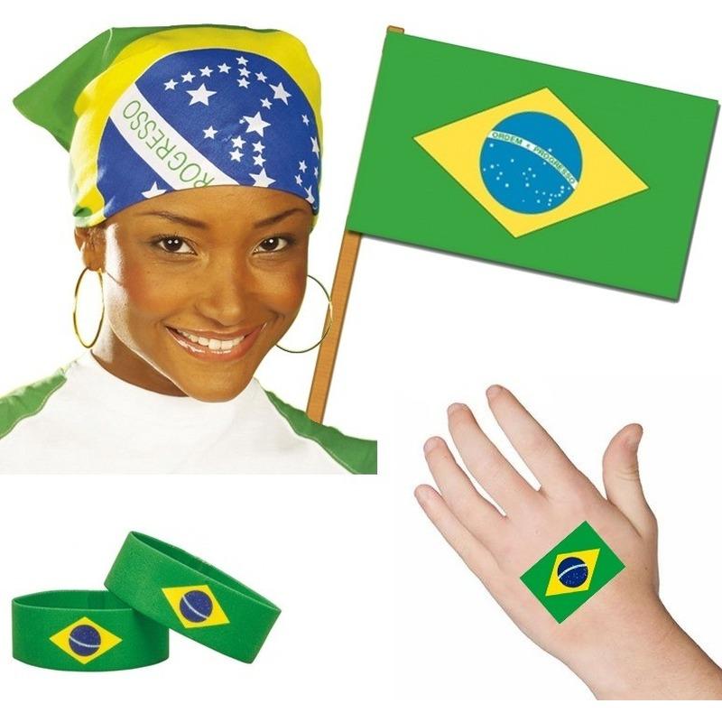 Brazilie thema verkleed set