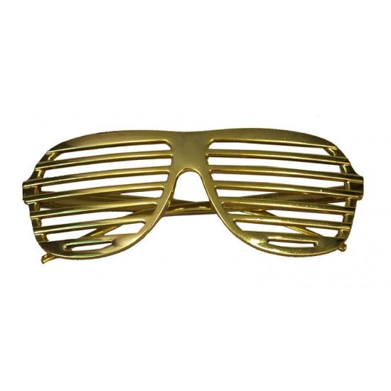 Bril met gouden lamellen