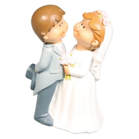 Bruidspaar taart decoratie beeldje 11 cm