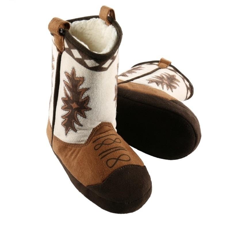 Bruine cowboylaarzen sloffen voor volwassenen
