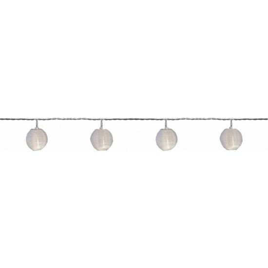 Buiten feestverlichting lichtsnoer witte lampionnen 7,2 m
