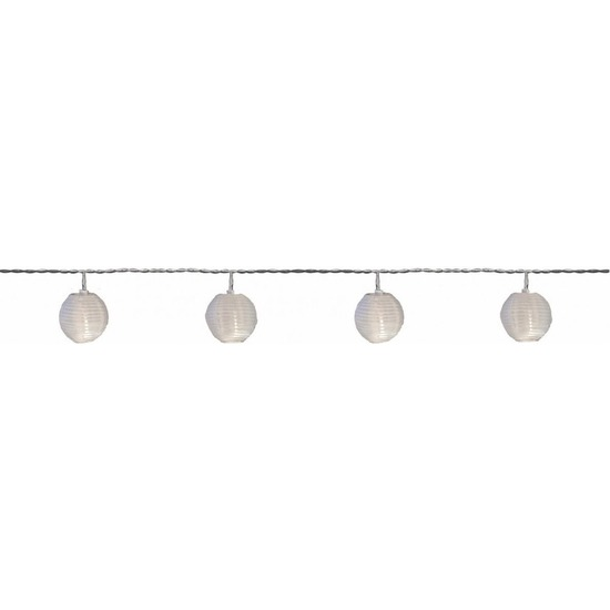 Buiten feestverlichting solar lichtsnoer witte lampionnen 2,5 m