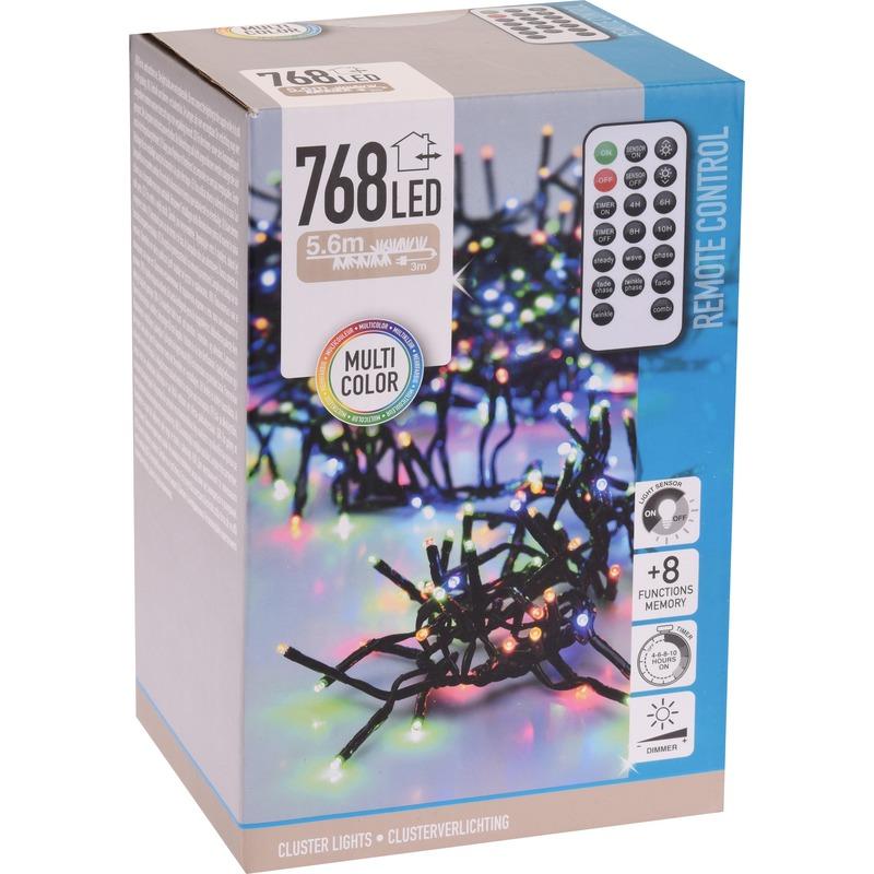 Clusterverlichting op afstandbediening kleur buiten 768 lampjes