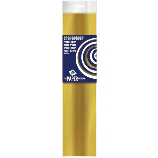 Crepe papier plat goud 250 x 50 cm knutsel materiaal