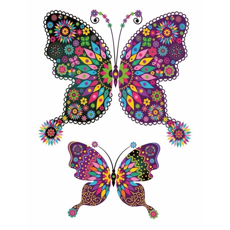 Decoratie dieren tattoo vlinder