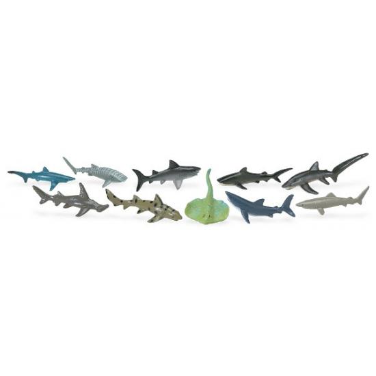 Decoratie haaien 10 stuks