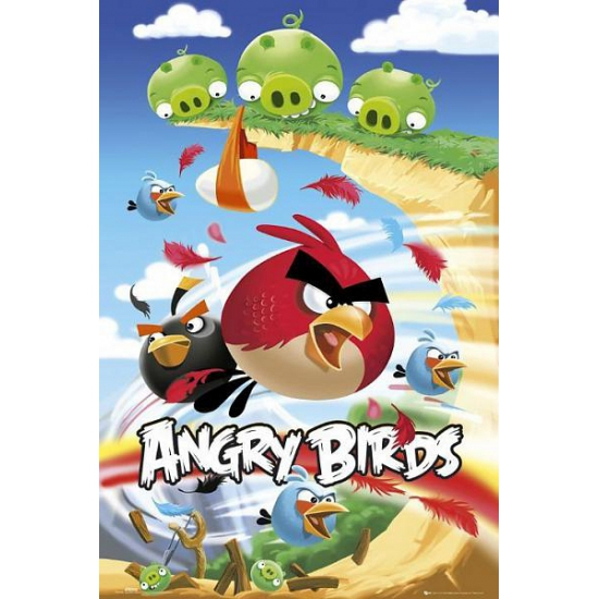 Decoratie poster Angry Birds