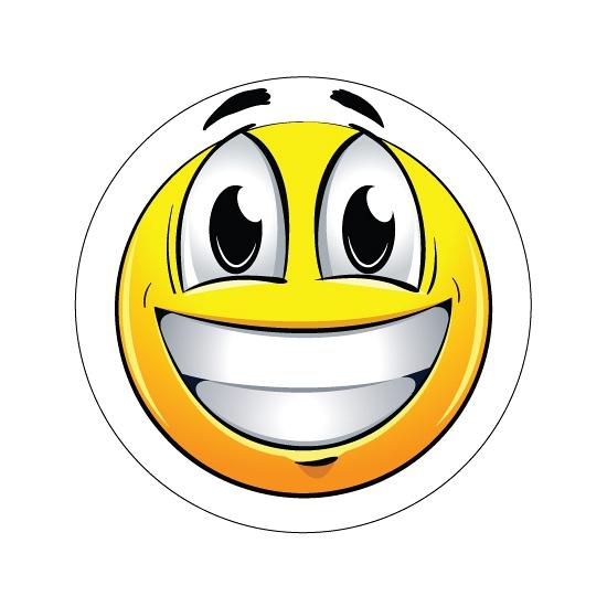 Deurstickers Smiley type 1