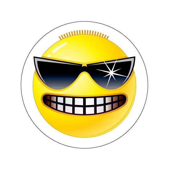Deurstickers Smiley type 3