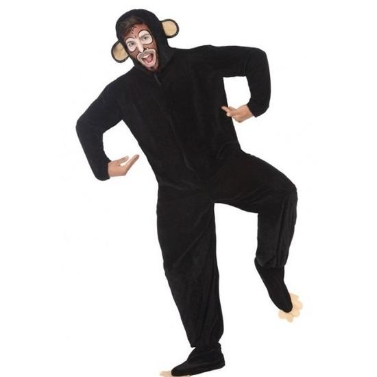 Dierenpak apen-chimpansee verkleedkostuum voor volwassenen