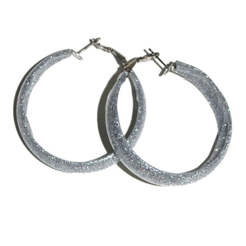 Disco oorbellen zilver