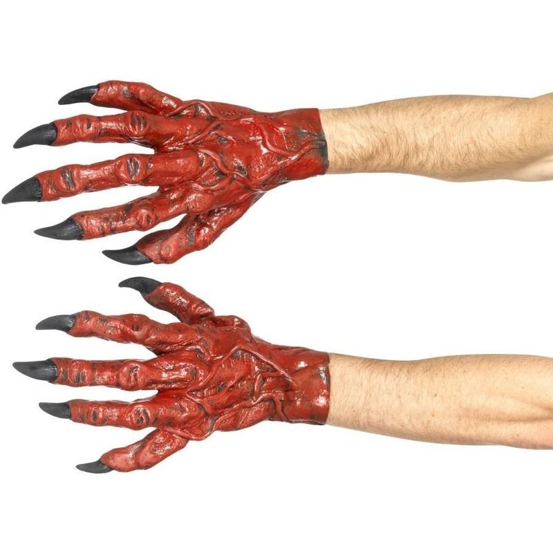 Duivel handschoenen latex voor volwassenen