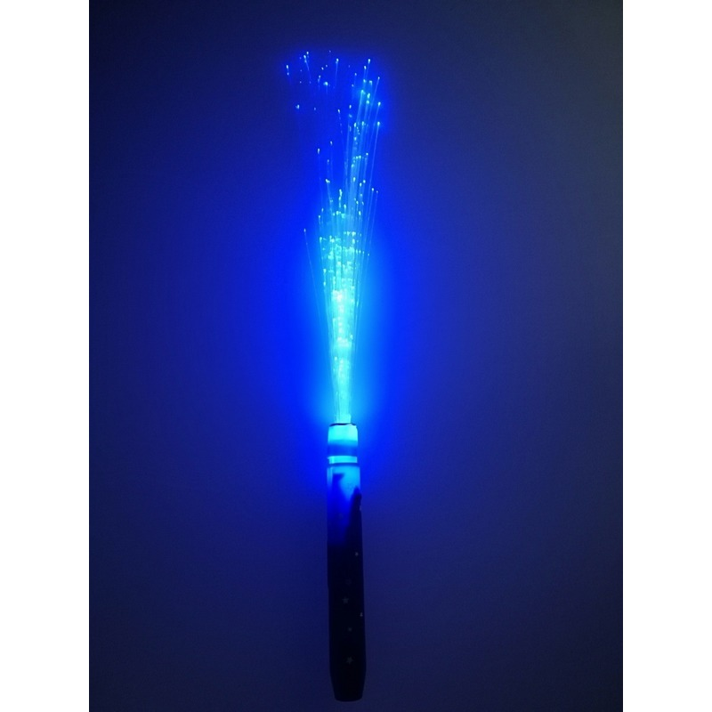Fiber LED licht stick blauw