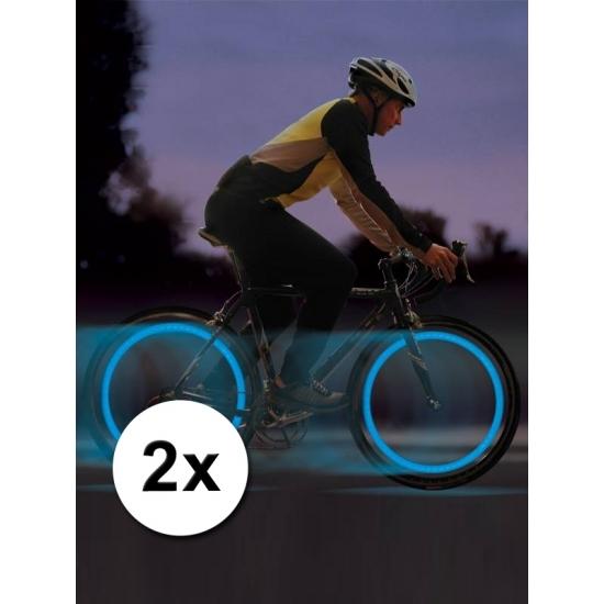 Fiets LED verlichting blauw voor in een ventiel